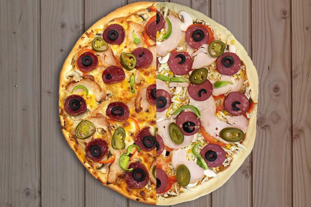 پخت پیتزا در یک آشپزخانه کاملاً آنلاین