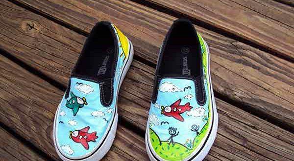 کسب درآمد از نقاشی روی کفش و لباس