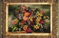 کارآفرینی هنرمند استهبانی با صادرات تابلو فرش/ سرمایه اولیه ام وام مشاغل خانگی بود